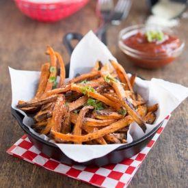 Baked Sweet Potato Fries [chefsavvy]