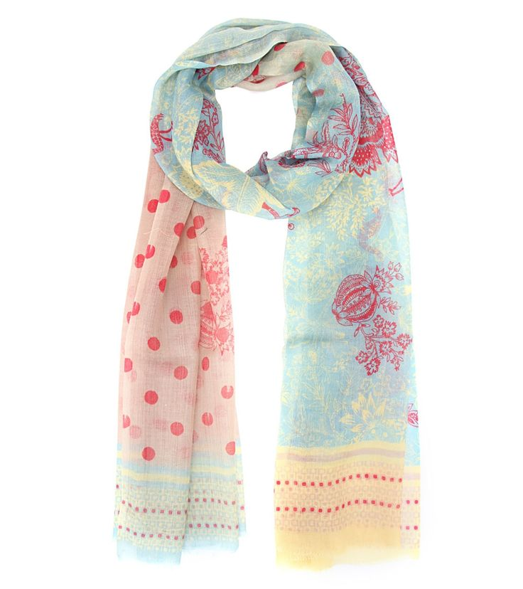 Multicoloured Rayon Digitally Printed Scarf #wraps #colourful #scarves #printed