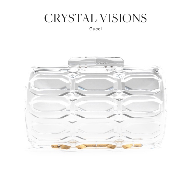 The top accessory trends of spring 2013 gucci clear clutch sweet