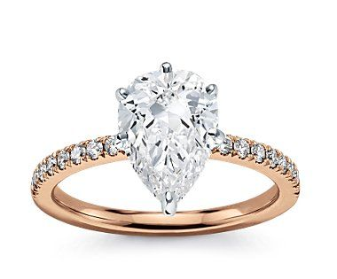 OMG MY DEAR RING!!! Pear shape is my FAVORITE! And rose gold??!?!?! what could be better!