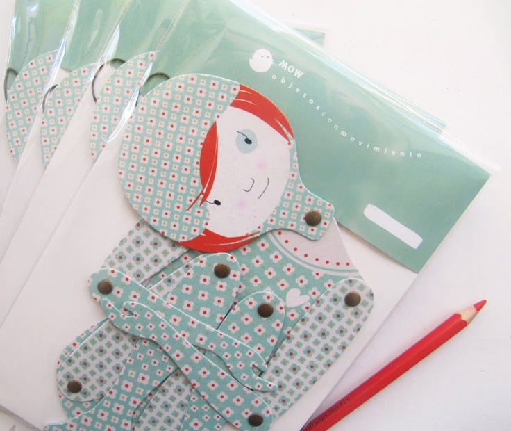 new! articulated paper doll