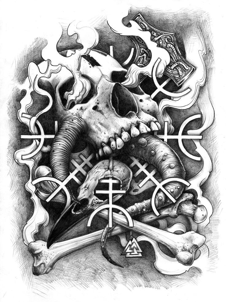 les 25 meilleures id es de la cat gorie tatouage nordique sur pinterest tatouages vikings. Black Bedroom Furniture Sets. Home Design Ideas