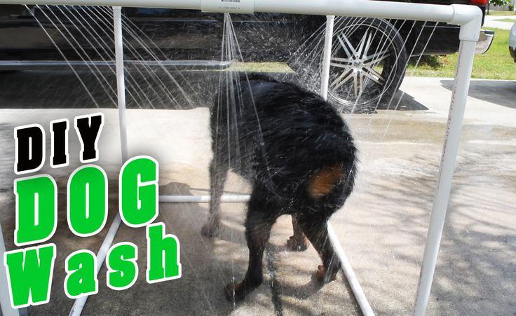DIY Outdoor dog Shower