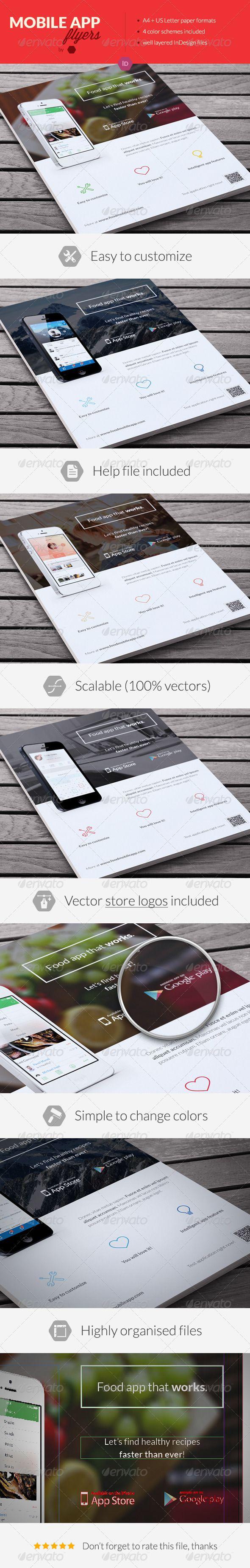 Mobile Application Promotion Flyers / Phone App 4 - Commerce Flyers