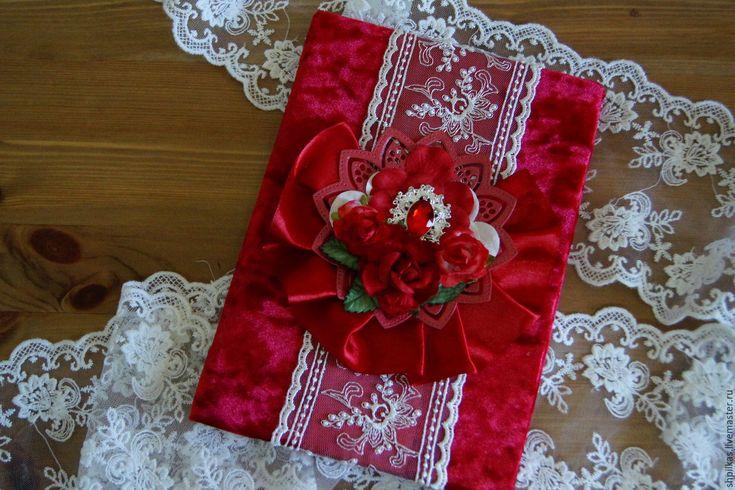 """Купить Приглашения на свадьбу """"Королевские"""" - ярко-красный, бархатное приглашение, приглашения на свадьбу, пригласительные, приглашение"""
