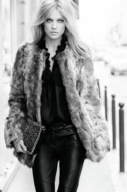 Un abrigo de piel siempre viste bien!