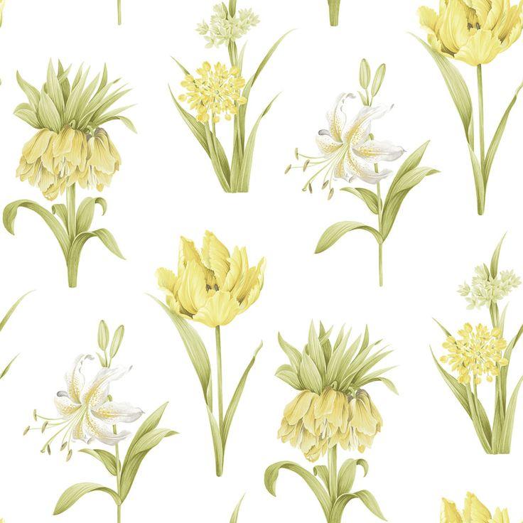 Fleurs Yellow wallpaper by Galerie