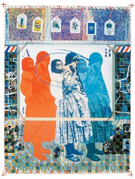 Romeo Galdámez| 1956-|Salvadoran Reflexiones de identidad| 1992|Serigrafía
