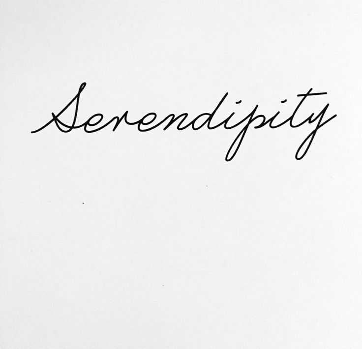 Serendipity my next tattoo