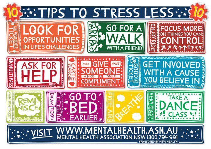 Mental Health Tips... Stress less