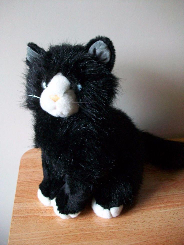 TY PLUSH BLACK & WHITE CAT SOFT CUDDLY TOY IN SITTING POSITION RETIRED 1999 | Toys & Games, Beanies, Ty Plush | eBay!