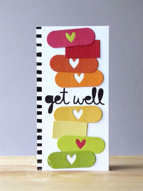 Paper Smooches: Band Aids and Get Well 2 Dies card by Emily Leiphart