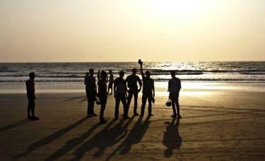 "Saatchi Art Artist Subhrajyoti Parida; Photography, ""Friends during sunset at Arambol Beach, North Goa."" #art"