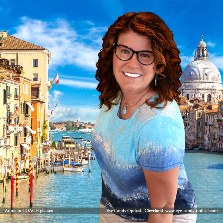 Annie sports an amazing summer look in Venice, Italy wearing her new designer glasses by Coach.  Eye Candy –  an Italian take the finest European Eyewear Fashion! Eye Candy Optical Cleveland – The Best Glasses Store! (440) 250-9191 - Book an Eye Exam Online or Over the Phone www.eye-candy-optical.com