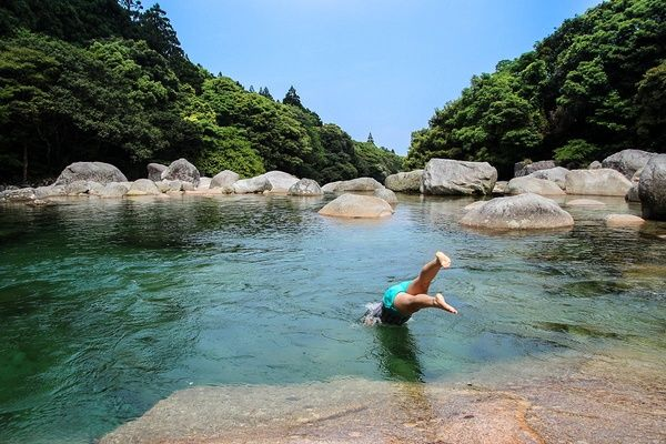 Yoggogawa freshwater pool, Yakushima, Japan #japan #travel