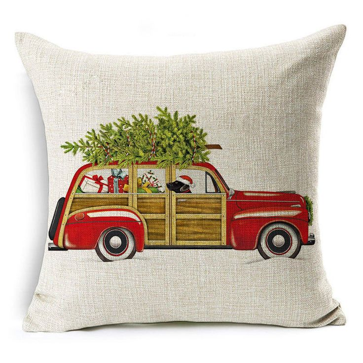 100 Styles Christmas Santa Sofa Car Throw Cushion Pillow Cover Cases Decor. A bed, sofa, chair, pillow material, color and placement began to affect the overall style of home decor, as the seasons change the color and style to replace the pillow, you can also add zest for life. | eBay!