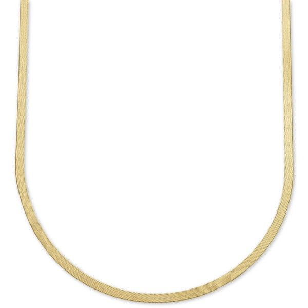 """20\"""" Italian Gold Herringbone Chain Necklace in 10k Gold ($1,150) ❤ liked on Polyvore featuring jewelry, necklaces, yellow gold, herringbone chain necklace, gold herringbone necklace, gold jewellery, gold chain jewelry and gold jewelry"""