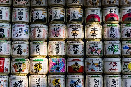 Row After Row of Sake Barrels in Tokyo Photo by Jared S. — National Geographic Your Shot