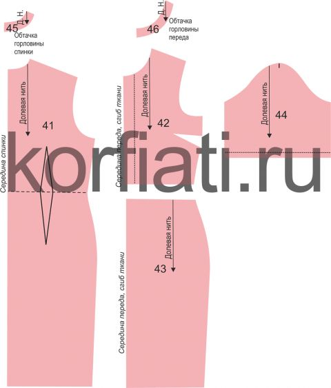 Patroon jurk met korte mouwen