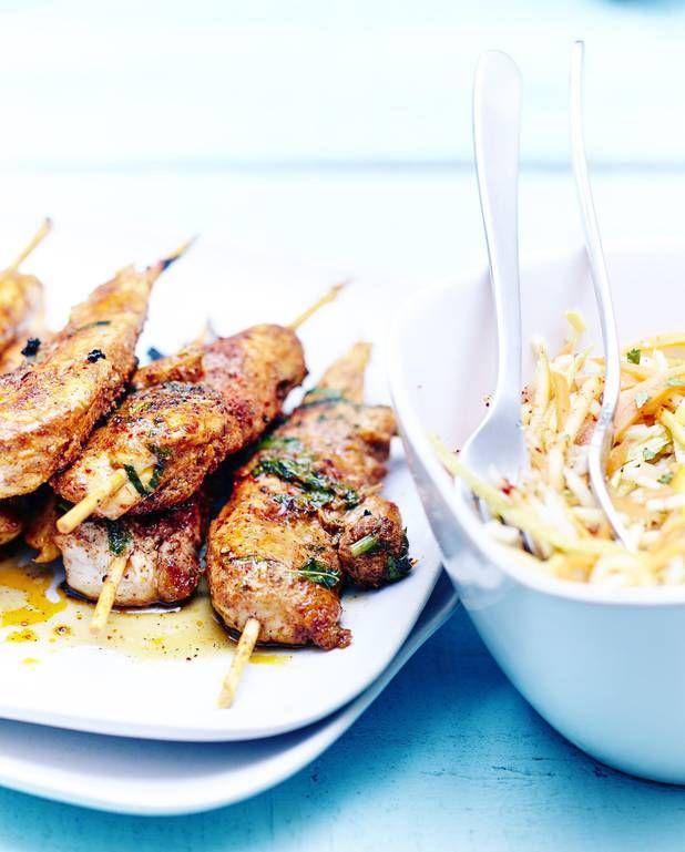Brochettes tandoori et légumes croquants pour 6 personnes - Recettes Elle à Table