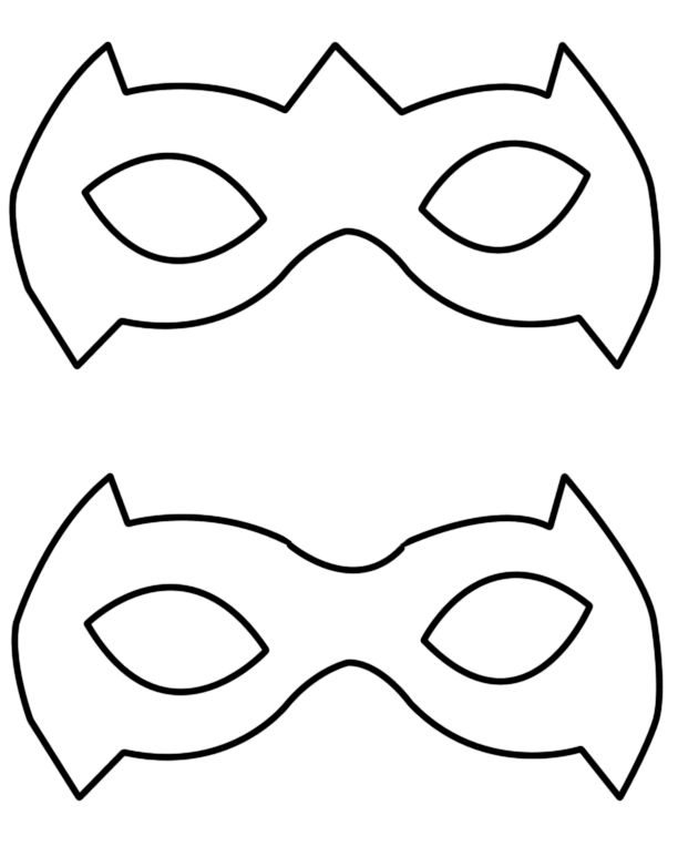 Robin Mask Template | Tutorial: A Simple Way To Make A Robin Superhero Mask | geekev
