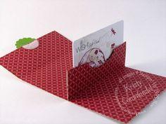 Hübsche Geschenkidee, die einfach nachzubasteln ist: eine Karte für Gutscheine.