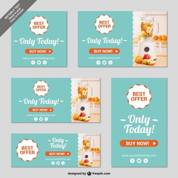 Online Shop Banner Vorlagen Kostenlose Vektor Inside Free Online Banner Templates Di 2020