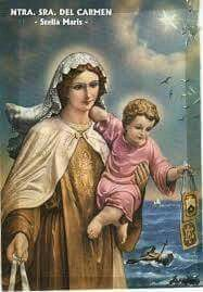En el nombre del Padre, del Hijo , y del Espiritu Santo. Amén.         A LA VIRGEN DEL CARMEN ♡------------------♡♡♡------------------------♡    Virgen del Carmen, dadme amor de Dios.   Virgen del Carmen,      dadme pureza.   Virgen del Carmen,     dadme paciencia.   Virgen del Carmen,      dadme el fervor.   Virgen del Carmen,      dadme fe viva.    Virgen del Carmen, socórreme en la vida     y en la muerte.   Virgen del Carmen,       salva mi alma.  ♡♡♡----------♡♡♡----------♡♡♡  Buenos…