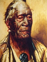 NEW ZEALAND: Waitangi. Treaty House and grounds: the site where the Treaty of Waitangi was first signed on the 6th of February 1840. (Photo: Goldie painting of Tamati Waka Nene from Treasures - Waitangi National Trust.)