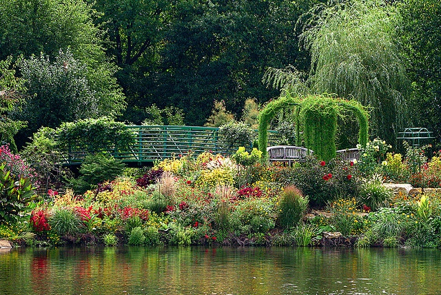 The Monet Garden at the Overland Park Arboretum