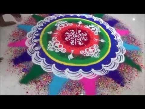Diwali Rangoli by Satish Thavi Exclusive Rangoli Design Unique Rangoli Design - YouTube