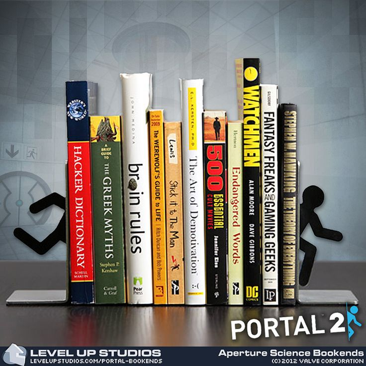 Portal 2 bookends gamer girl pinterest - Portal book ends ...