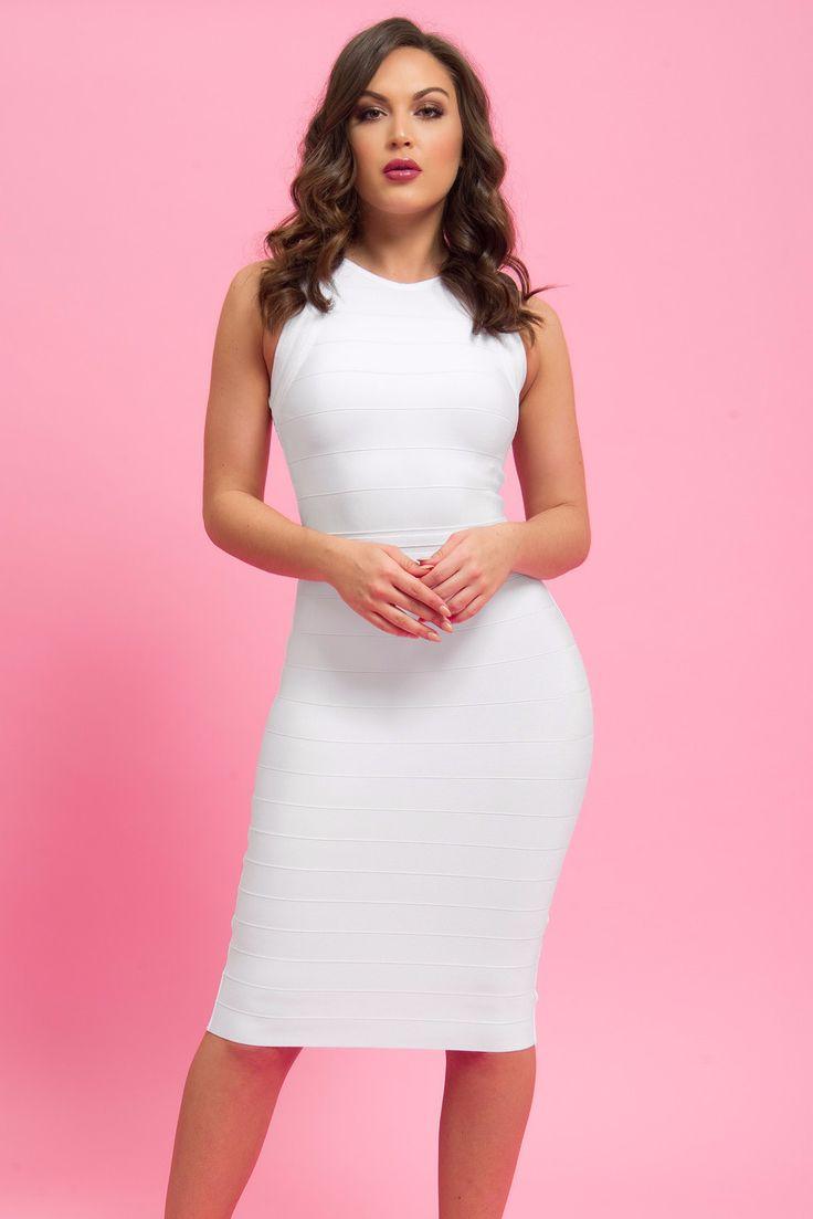 Yvette Bandage Dress WHITE