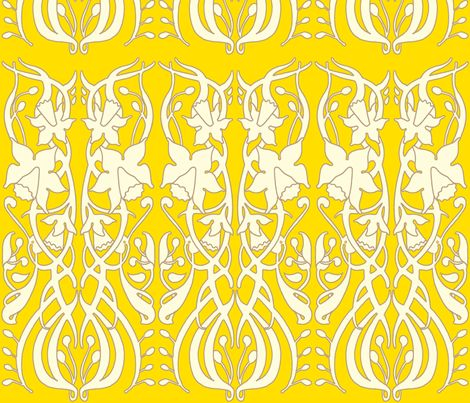 daffodil_yellow fabric by holli_zollinger on Spoonflower - custom fabric