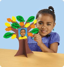 """Self esteem """"me tree."""" On the leaves have each child write something they like about themselves."""