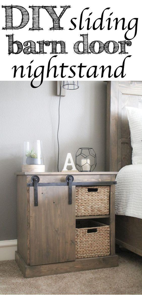 DIY : Fabriquer une table de nuit avec porte coulissante économique