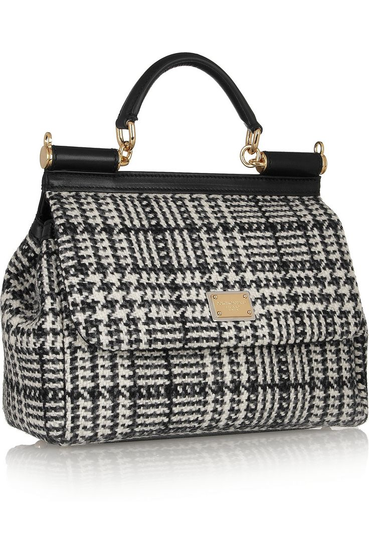 Dolce & Gabbana | The Sicily medium wool-tweed tote | NET-A-PORTER.COM