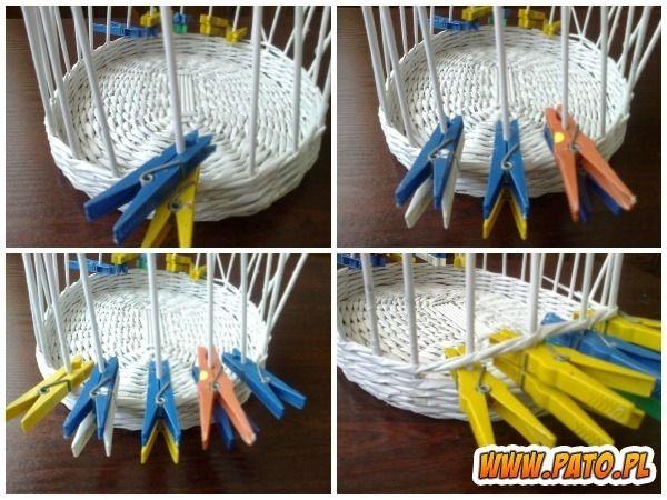 Мастер-класс по плетению корзинки из газетных трубочек (9) (600x450, 209Kb)
