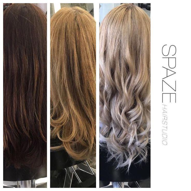 Von dunkel auf ein küles blond in drei Spaze besuchen. #spaze#spazehairstudio#healthyhair#olaplex#kühlesblond#longhair#wella#kevinmurphy#instahair#hairstyles#haircolor#newstyle#longhair#waves#best#hairdresser#niderdörfli#zürich#switzerland#instagood#goodhair#blonde#