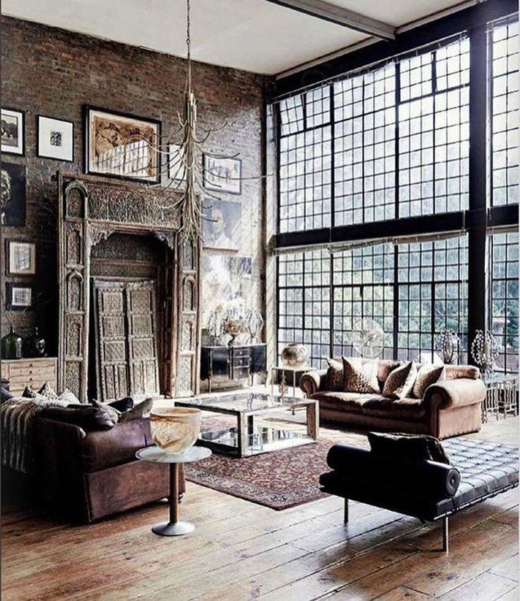"656 Likes, 16 Comments - Ashley Stark Kenner (@ashleytstark) on Instagram: ""A little industrial chic • • • • • #art #interior #interiordesign #architecture #instadecor…"""
