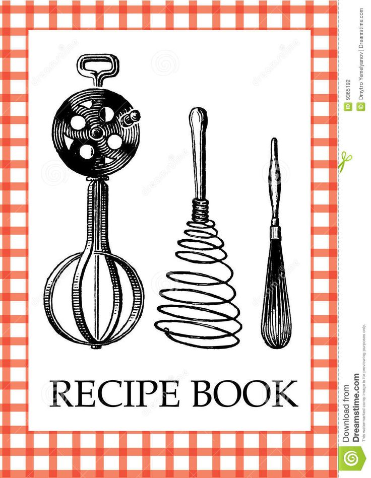 Influential image inside recipe book cover printable