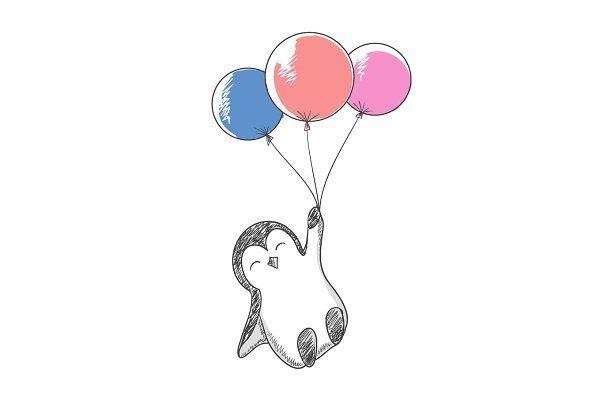 снимок пингвин с шариком картинка этот