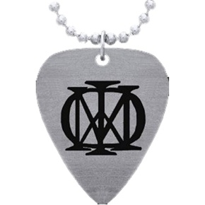 Dream Theater  Guitar Pick Metal Pendant Necklace