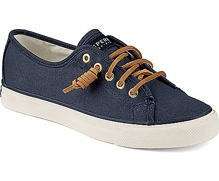 Seacoast Canvas Sneaker, Navy Burnished Canvas….yes please!