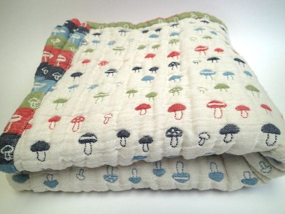 Toddler size blanket soft blanket muslin blanket by AYU123 on Etsy