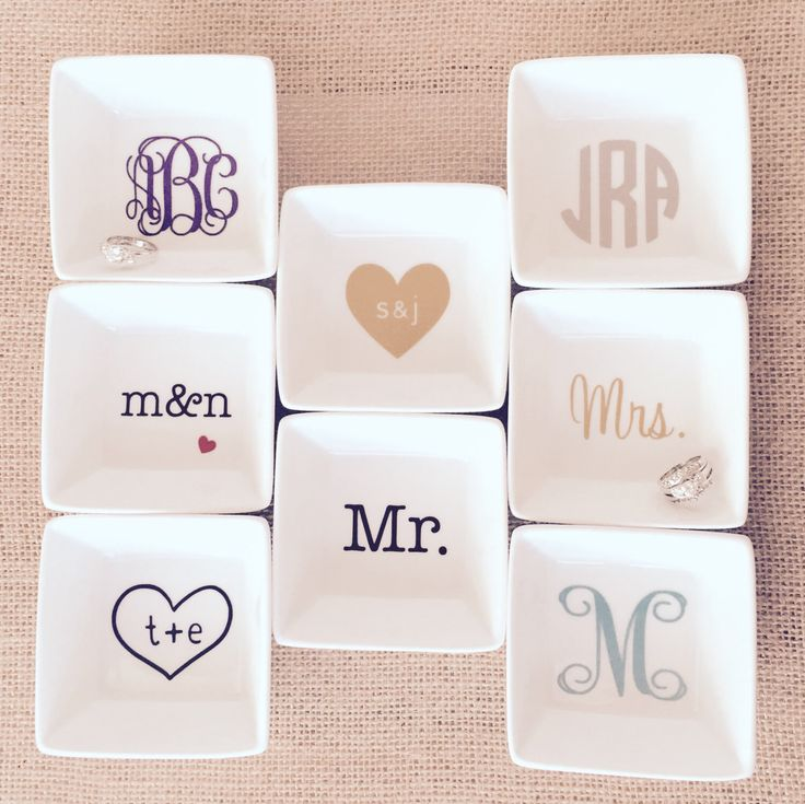 FREE DATE INCLUDED Wedding Personalized Ring Dish Custom Jewelry Box Engagement …   – wedding