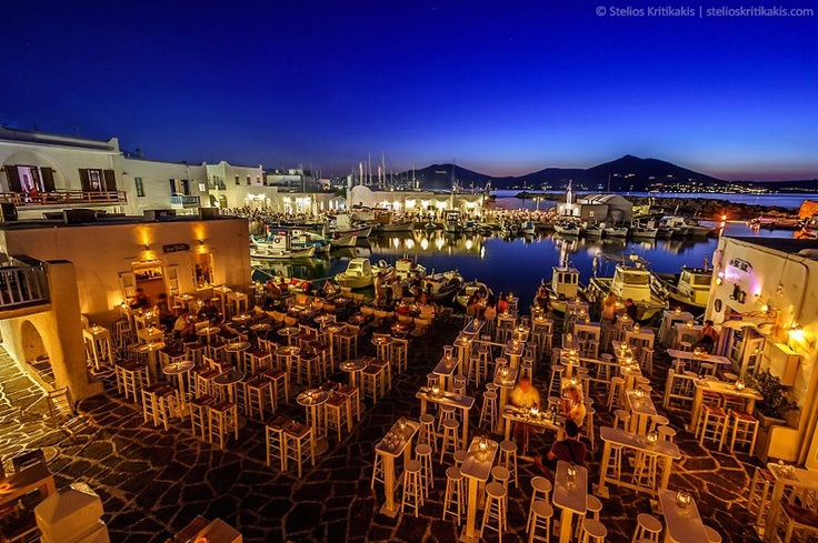 Paros Island by night
