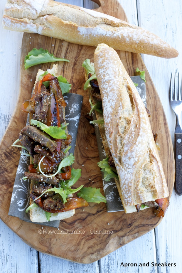 Apron and Sneakers - Cooking & Traveling in Italy: Panino con Fettine di Bistecca e Peperoni ( Beefsteak Slices & Pepper Sandwich)