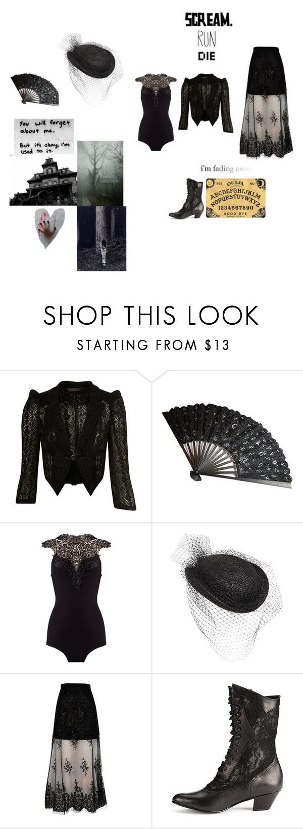 """""""haunted"""" by randomfashionsxoxo ❤ liked on Polyvore featuring Miss Selfridge, Federica Moretti, River Island and Chloé"""