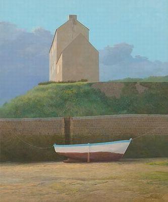 Klik op afbeelding om het venster te sluiten In de haven van Brigneau Peter Durieux (1951)   2008  60 x 50 cm  schilderij  acrylverf op paneel